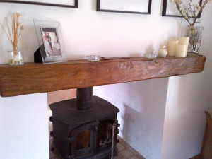 Oak Beam Above Woodburner