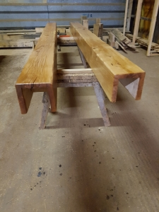 Hollowed Out Beams In Danish Oil